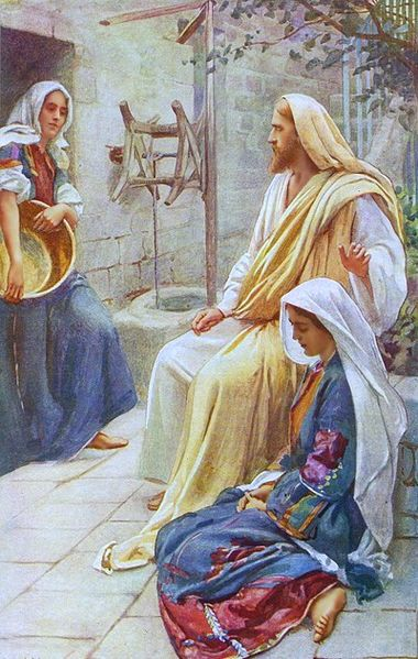 380px-Harold_Copping_Jesus_at_the_home_of_Martha_and_Mary_400