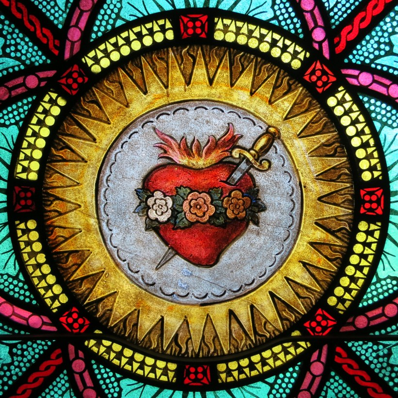 All_Saints_Catholic_Church_(St._Peters,_Missouri)_-_stained_glass,_sacristy,_Immaculate_Heart_detail