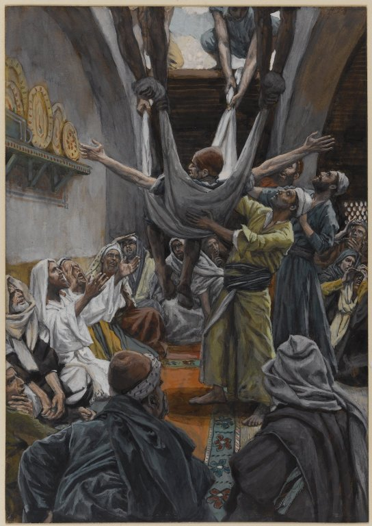 Brooklyn_Museum_-_The_Palsied_Man_Let_Down_through_the_Roof_(Le_paralytique_descendu_du_toit)_-_James_Tissot_-_overall.jpg